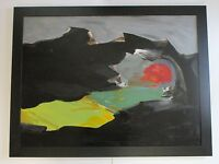 JAN STUSSY (b.1921) LISTED CALIFORNIA MODERNIST VINTAGE EXPRESSIONISM PAINTING