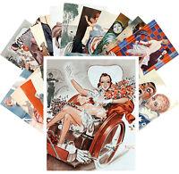 Postcards Pack [24 cards] Armand Valee Vintage La Vie Parisien Magazine CC1102
