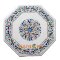 24'' Peacock Floral Arts Marble Coffee Table Top Furniture Inlay Decorative W172