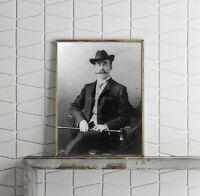 Vintage c1903 photograph of Robert Edwin Peary Summary: 3/4 length, seated, faci