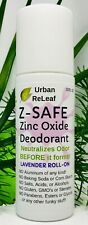 Urban ReLeaf Z-Safe Zinc Oxide Deodorant, Natural Lavender Roll-On! No Aluminum