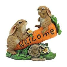 Carrot See-Saw Teeter Totter Bunny Rabbits Home Garden Welcome Sculpture