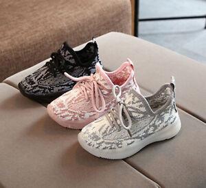 Children Toddler Baby Boy Girl Breath Mesh Hollow Sport Shoes Kids Walk Sneakers