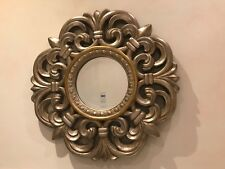 Beautiful Baroque Rococo Style Circular Wall Mirror Antique Gold