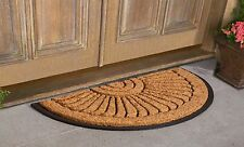"Sunburst Coir Black Brush Doormats 30"" x 48"" &  30"" x 18"""