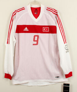 2002-03 Turkey Away L/S No.9 HAKAN SUKUR Player Issue 2002 WorldCup Shirt Jersey