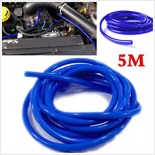 Blue 4mm Car Vehicle Soft Silicone Tubing Vacuum Tube Hose Tubing Pipe 16.4ft 5M