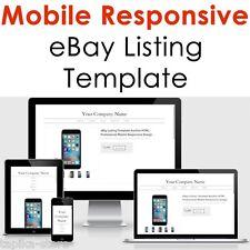 Modello di inserzione eBay HTML Asta PROFESSIONAL MOBILE reattivo Design 2017