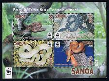 2015 Samoa WWF Pacific Tree Boa Snake Souvenir Sheet