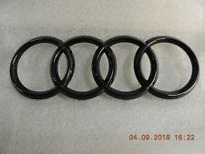 Original Audi A3 A4 A5 A6 A7 Emblem Ringe  Zeichen im Kühlergrill schwarz glänz