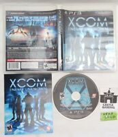 XCOM Enemy Unknown PlayStation 3 PS3 2012 TESTED CIB COMPLETE FAST TRACKED SHIP