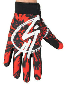 SHADOW CONSPIRACY CONSPIRE BMX MTB MOTO X GLOVES TOUCH SCREEN FOX RED TYE DIE