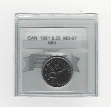 **1981** Coin Mart Graded Canadian,25 Cent, **MS-67 NBU**