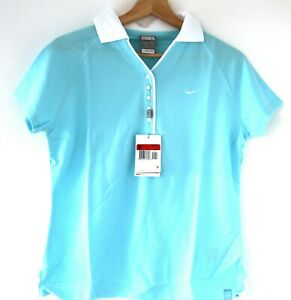 VTG 90s Y2K Nike Supreme Court Challenge Court Polo Shirt Torquoise Size L