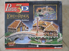 WREBBIT Puzz3D puzzle Lord of the Rings, Hobbiton, Opened box, Used puzzle