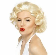 Adult Blonde Marilyn Monroe Bombshell Fancy Dress Costume Fashion Wig Accessory