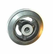 Caster Barn 6 X 2 Mold On Rubber On Cast Iron Steel Wheel 500 Lbs Cap