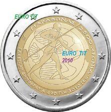 2 €   GRECE  2010    COMMEMORATIVE  MARATHON   1 x  PIECE  2010  disponible