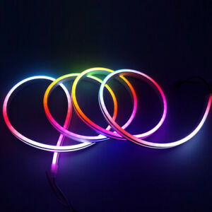 5V 12V Premium Neon Magic Full Color RGB W Flex LED Strip Outdoor Lighting 1-5M