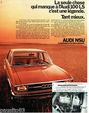 PUBLICITE ADVERTISING 096  1971  Audi Nsu  100LS