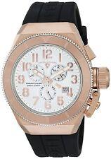 Swiss Legend Men's Rose Gold Steel Case Black Strap Quartz Watch 13844-RG-02-RBA