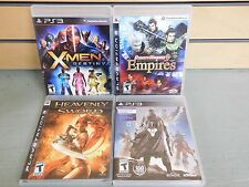 Lot of 4 PS3 Games X-MEN Empires HEAVENLY SWORD Destiny (DH650)