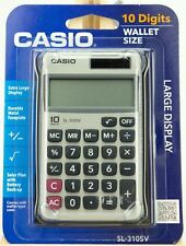 Casio SL-310SV 10 Digit Wallet Size Solar Calulator w/ Wallet Style Case ~ NEW