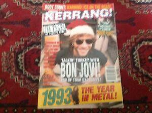 Kerrang! Magazine No 474 Dec 18/25 1993 - 100 Pages of Festive Fury!