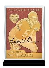 BRIAN URLACHER 2001 Draft Pick FEEL THE GAME Gold Card Football Textured *BOGO*