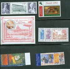 Vatican City 2002 MNH Stamp Year Set Complete
