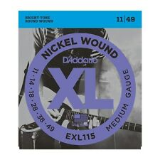 D'ADDARIO EXL115 NICKEL WOUND MEDIUM 11-49 ELECTRIC GUITAR STRINGS  2 PACK