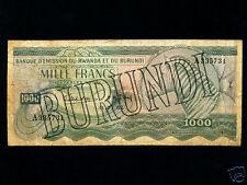 Burundi:P-7,1000 Francs,1962 * Zebra * RARE *
