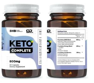 KETO COMPLETE  (60 CAPSULES) - WEIGHT LOSS FORMULA/METABOLIC KETOSIS SUPPORT