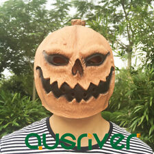 Pumkin Full Face Masks Halloween Latex Overhead Mask Masquerade Rubber Mask