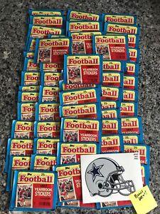 1987 Topps Football Yearbook Stickers: 80 Unopened Packs-Rice? Marino? Montana?