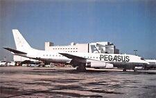 PEGASUS DC-8  Airplane Postcard
