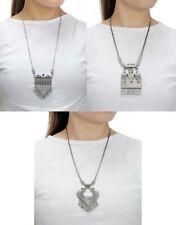 Tribal Necklace Jewelry Silver Fashion Oxidized Pendant Women Traditional Set