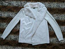 Donne Fluffy Shaggy Caldo Cappotto in pelliccia sintetica Giacca Nappa Cardigan con lavorazione a maglia outwear per Regno Unito