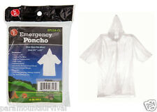 Clear Emergency Rain Poncho Camping Hiking Sport Bug-Out-Bag Disaster