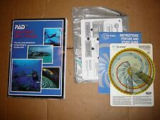 THE WHEEL RECREATIONAL DIVE PLANNER PADI and OPEN WATER DIVER MANUAL