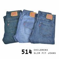 VINTAGE KIDS LEVIS 514 SLIM STRAIGHT FIT JEANS GRADE A W24,W25,W26,W27,W28,W29,W