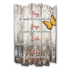 Wandbild Zitat Schmetterling Shabby aus Holz mit Spruch und Motiv Wand-Deko30x20