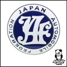 CUSTOM JAF JAPAN AUTOMOBILE FEDERATION GRILL BADGE EMBLEM BLUE JDM RETRO