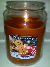 Wickford & Co Large Gingerbread Scented Candle🎁🎄 95 hours burn time Christmas
