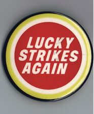 "Lucky Strike Cigarettes 2.5"" Pinback Button Advertising Tobacco Vintage Retro Ad"
