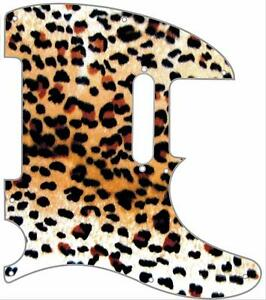 Telecaster Pickguard Custom Fender Tele 8 Hole Guitar Pick Guard Cheetah Print