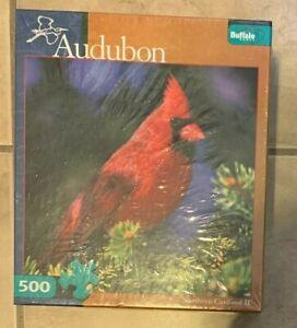 Audubon Northern Cardinal II 2 Puzzle Buffalo Games 500 Pc NEW Factory Sealed