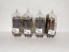 4 x 12au7A/ecc82 RCA Tubes *CLEAR Top*D Getter *Tested TV-7*