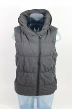 Bench Women's Trap Jersey Lined Vest Black Marl Size MEDIUM Foldable Hood $87