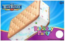 Ice Cream Truck Decal Sticker Blue Bunny Birthday Party Ice Cream Sandwich